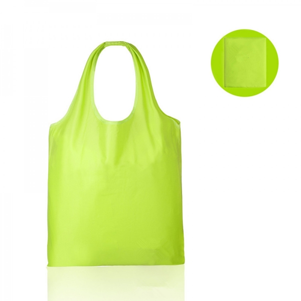Foldable shopping bag 210D polyester grocery carrying