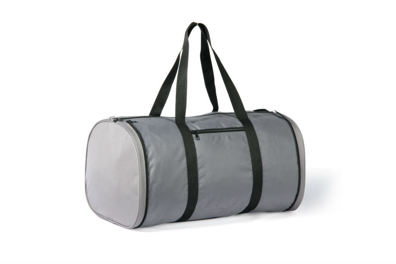 Grey foldable duffle bag