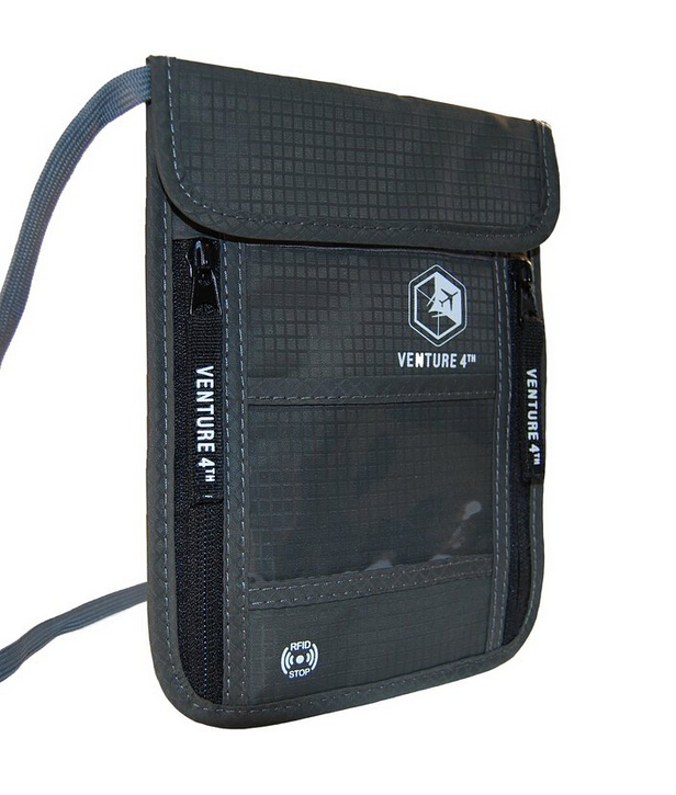 RFID passport holder grey