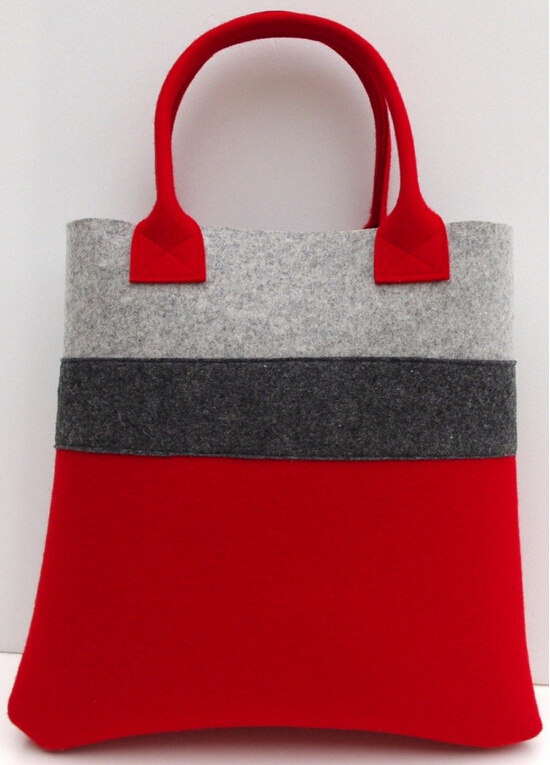 Felt tote bag customize