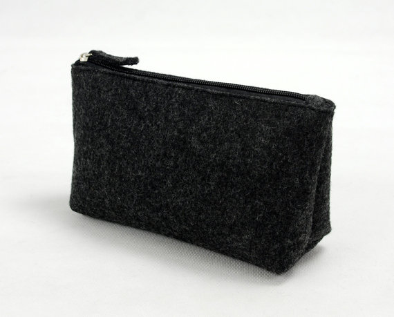 Felt pencil organizer black