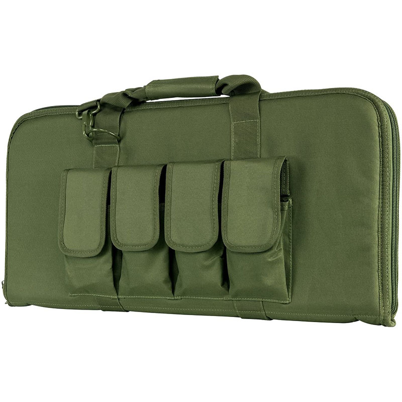 Green Rectangular padded gun case