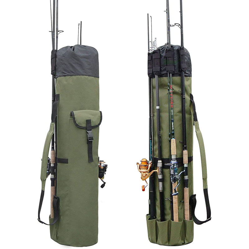 Fishing pole storage bag