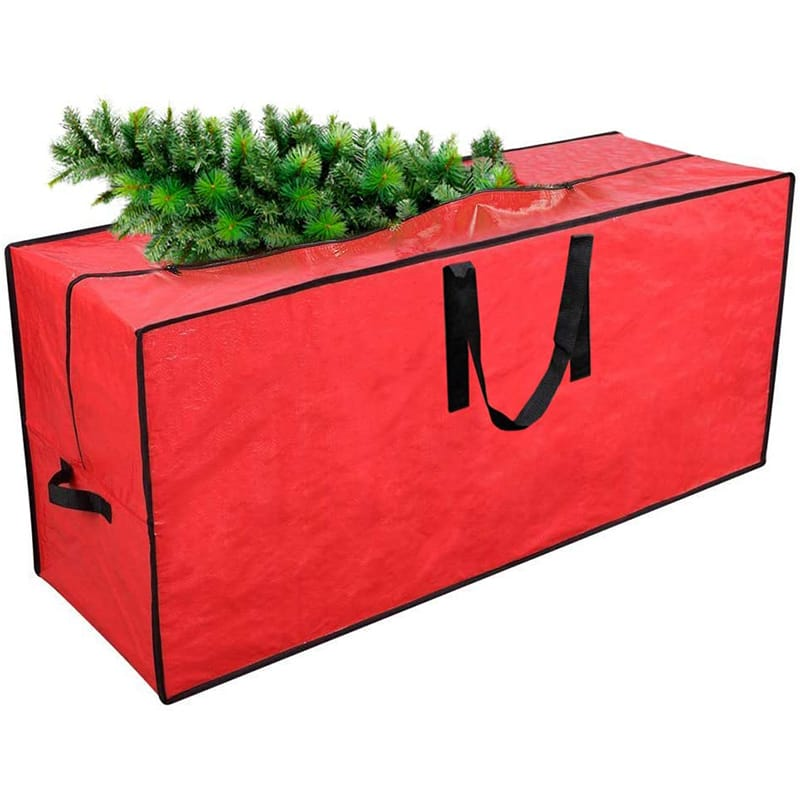 Red Xmas tree storage bag