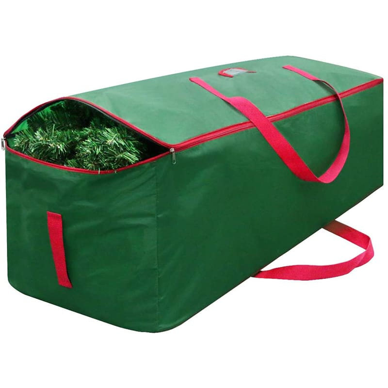 Green rectangle holiday Xmas tree container