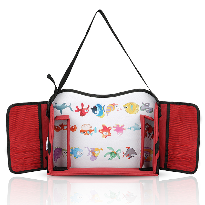 Portable red kids play tray