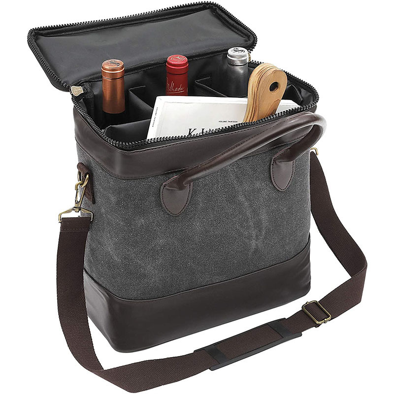 Insulated Wine Carrier Tote Bag