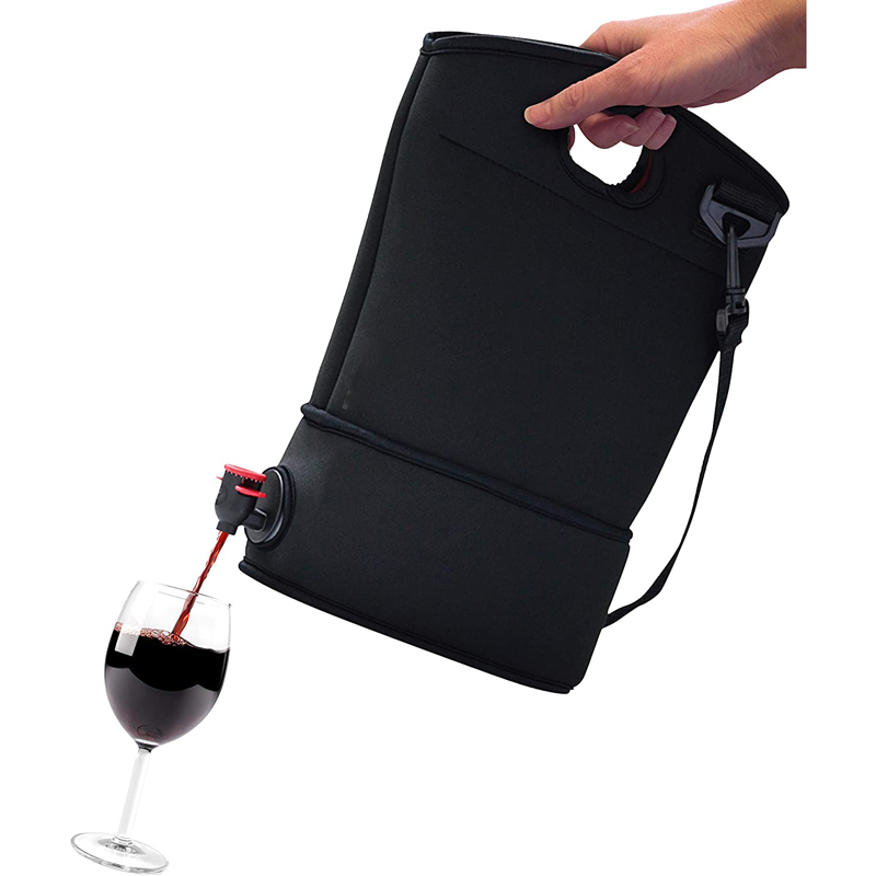 Neoprene wine spout purse