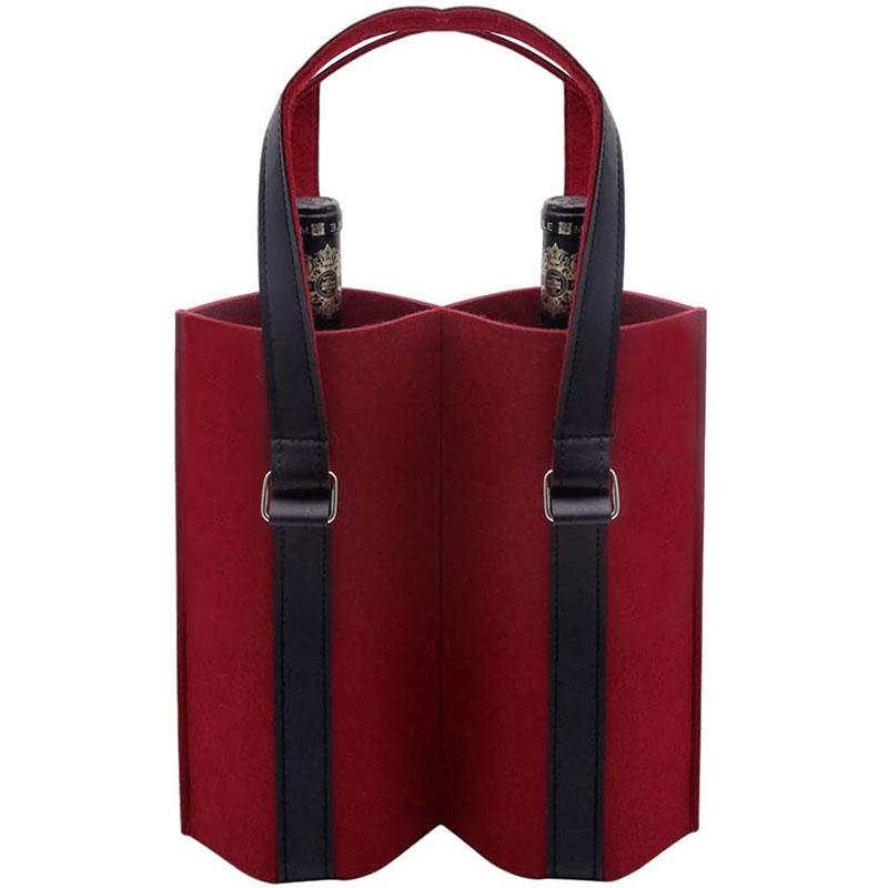 Felt wine bottle carrier tot...