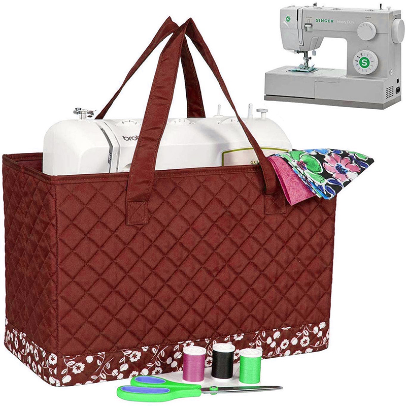 Quilted Sewing Machine Carrying Case